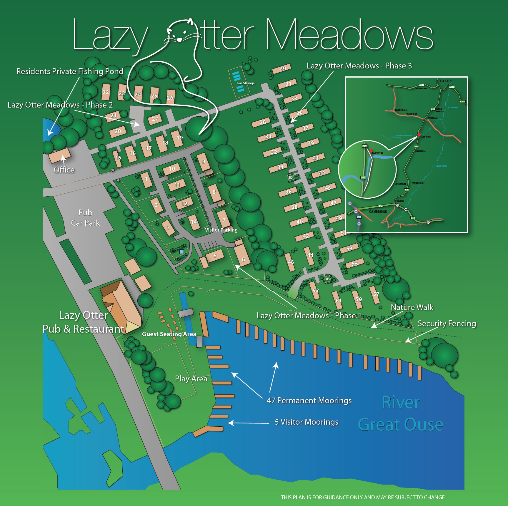 Lazy Otter Meadows Complex Map